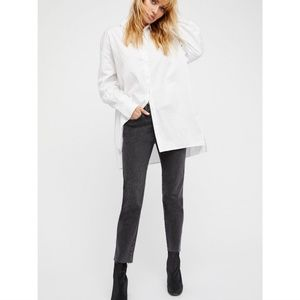 Free People Clean Girlfriend High Rise Jeans 24
